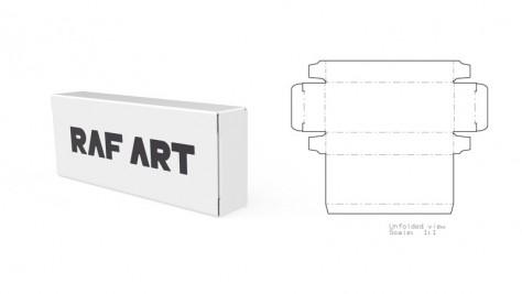 Выкройка бумажной коробки 92x37x16