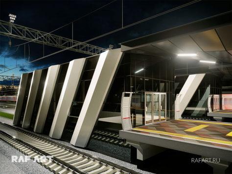 Дизайн проект станции РЖД «Санино»   DESIGN of the LOBBY