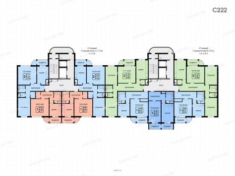Зонирование этажей 6-17